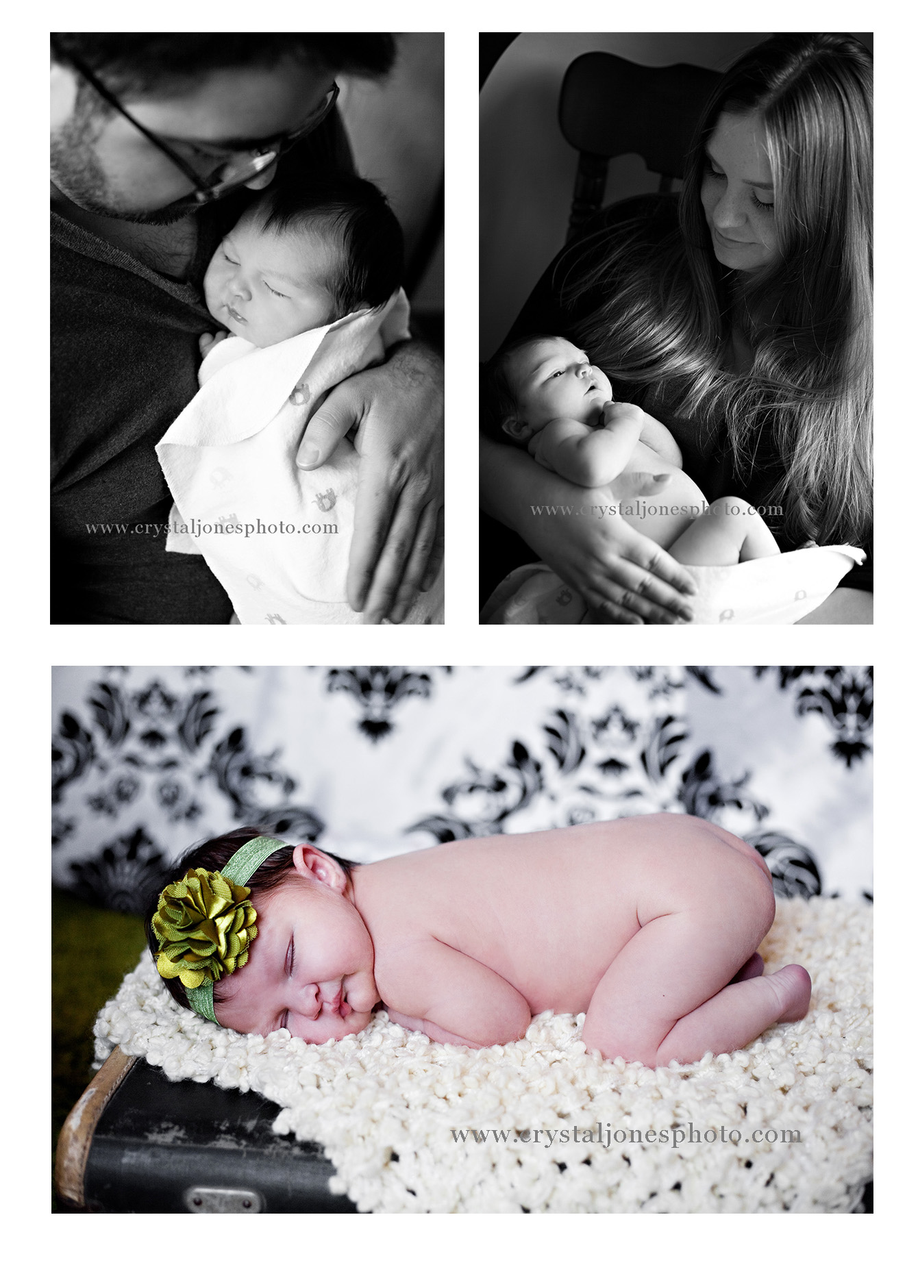 in home professional newborn portraits in roseville california