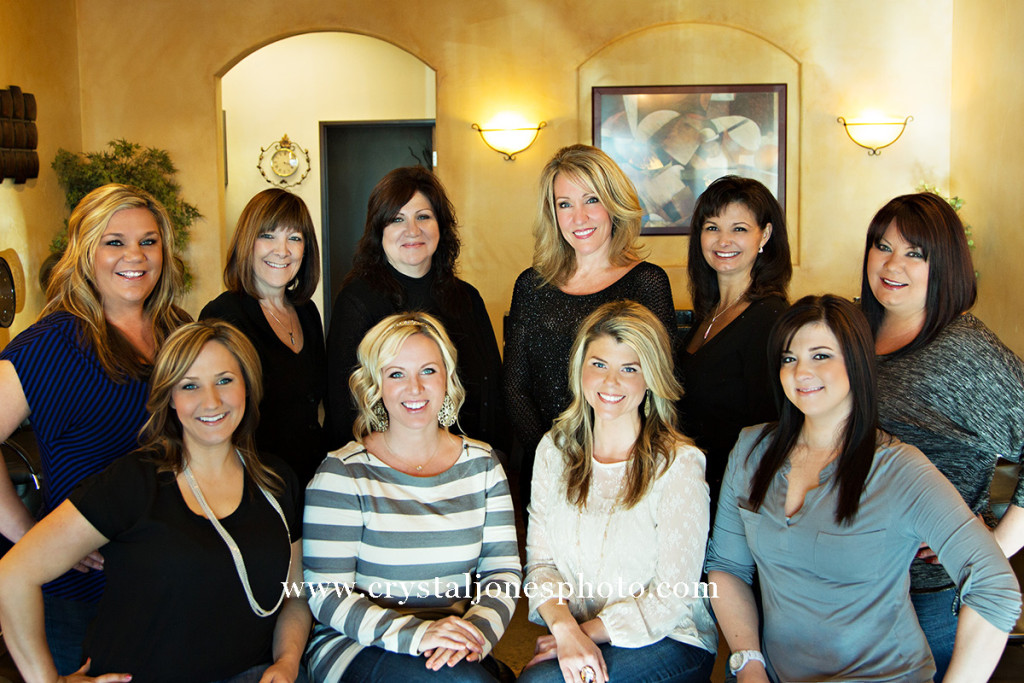 in office business headshots at allure hair salon in rocklin california