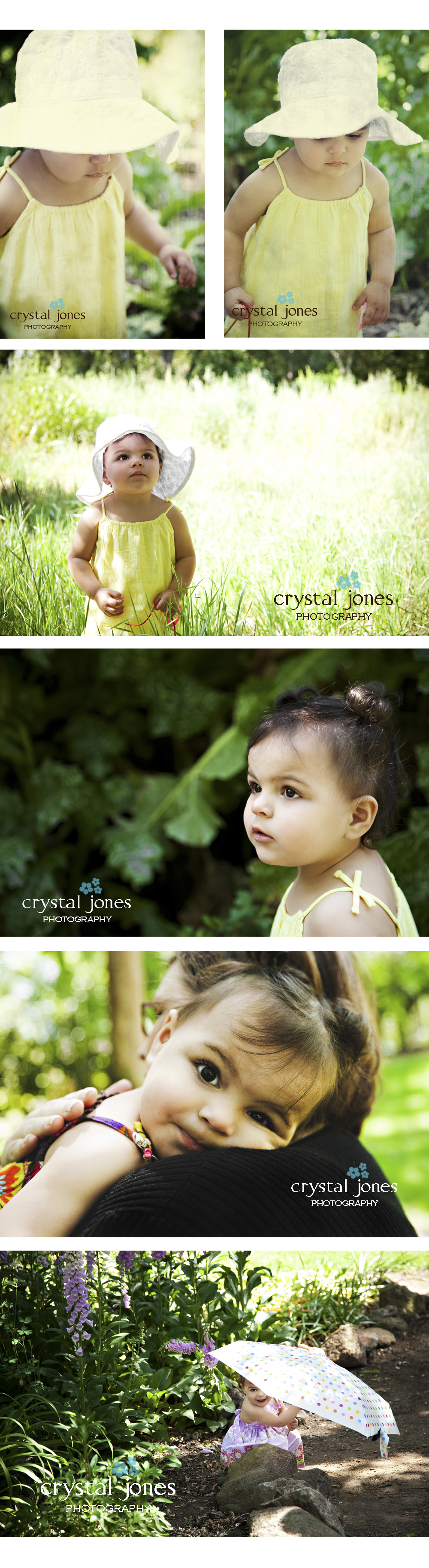 Outdoor natural light children's portraits at Jensen Botanical Gardens in Sacramento california