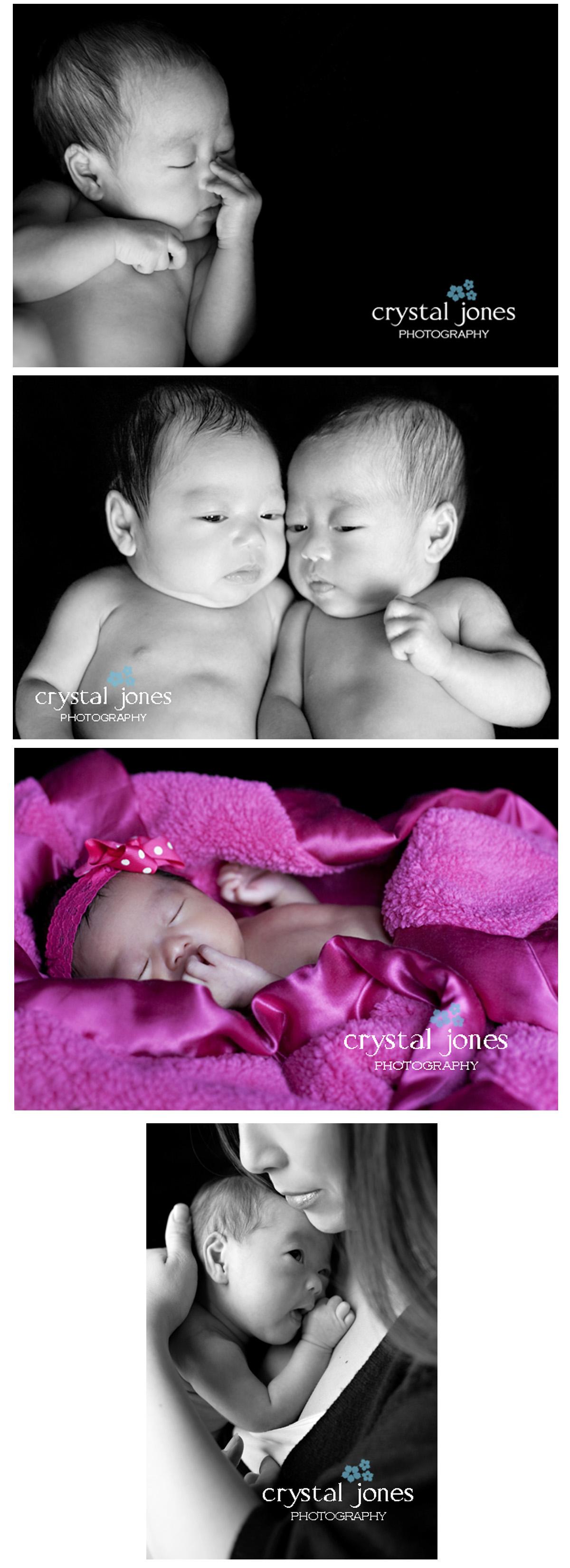Professional studio newborn portraits in Roseville California