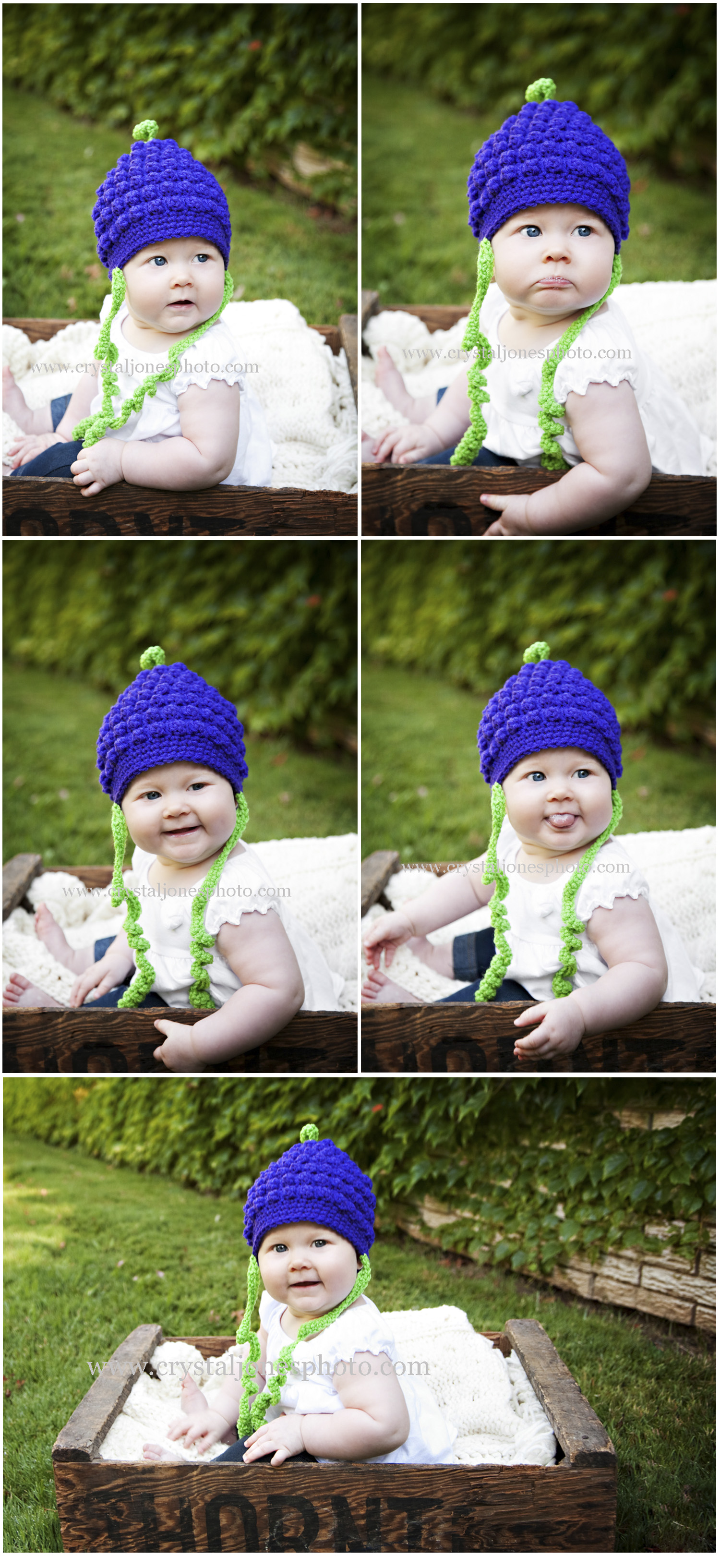 outdoor colorful 6 month milestone portraits in Rocklin, california