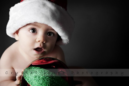 holiday portraits of babies in roseville california