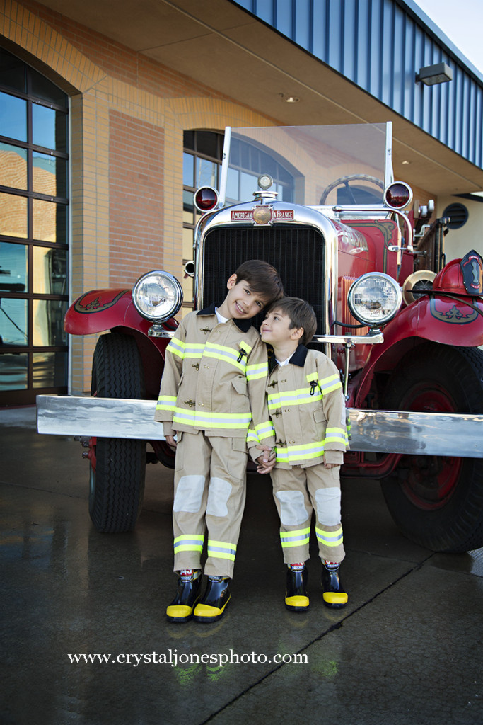 themed children's portraits at the folsom firehouse