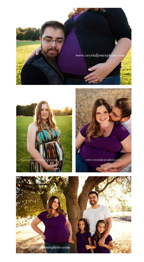 outdoor maternity portraits in carmichael california
