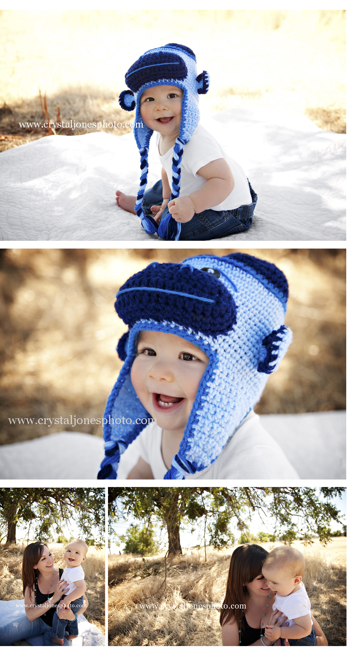 outdoor 6 month baby photos in roseville california