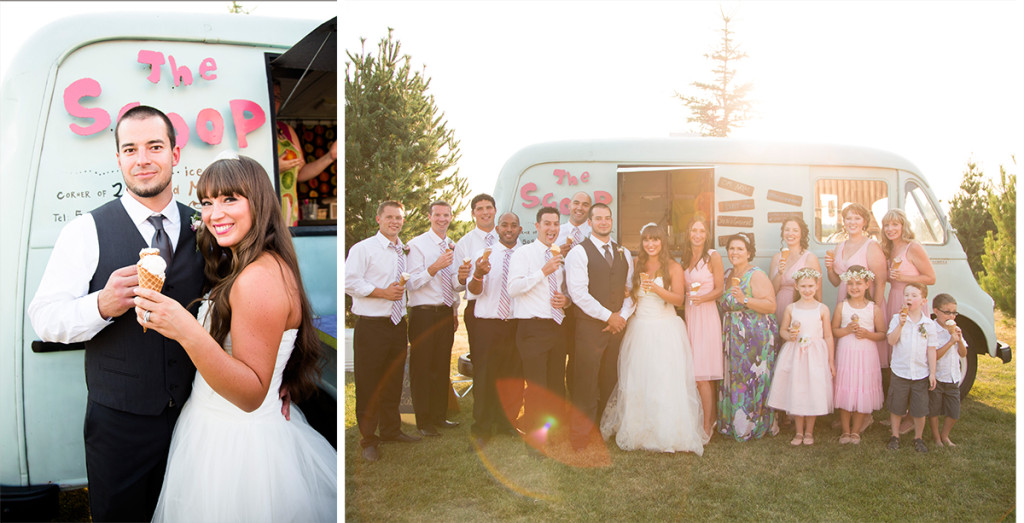 ice cream truck wedding dessert