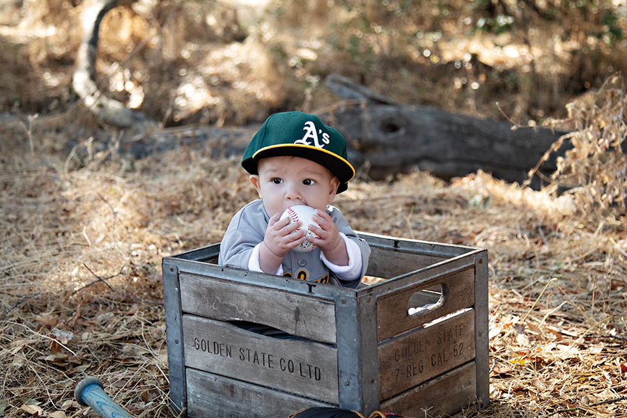 Baby Boy 6 month sitter session in Roseville CA 007