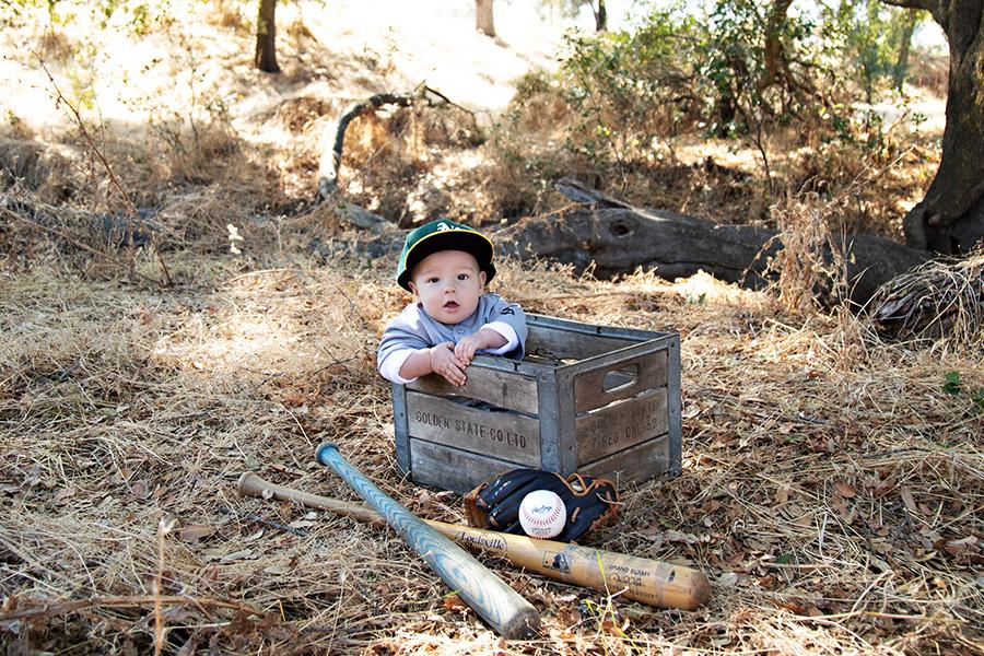 Baseball themed baby photos in Roseville CA 014