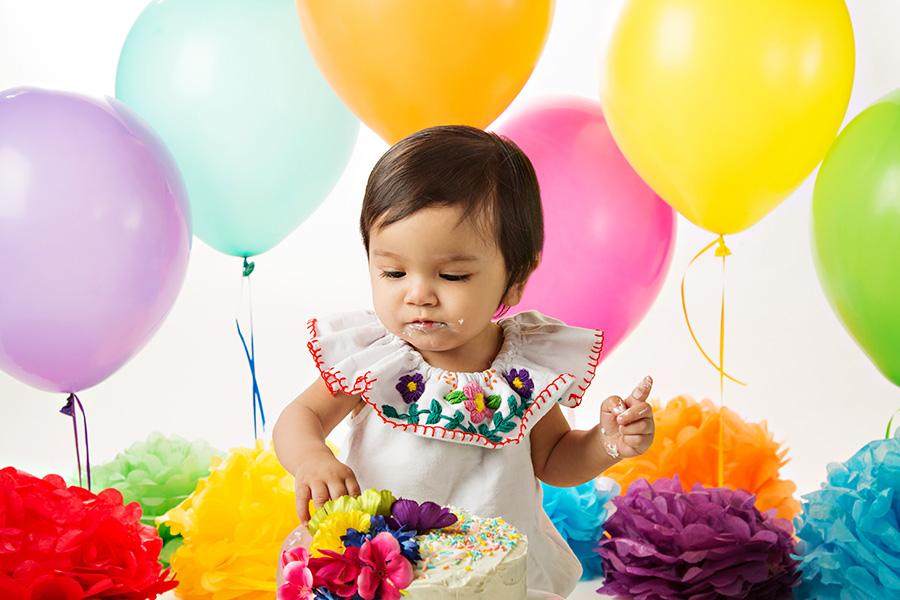 Cake Smash for Baby Girl Fiesta Theme 014
