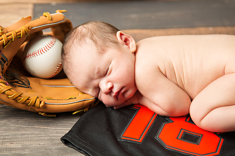 Giants Baseball themed Newborn Boy Portraits 066