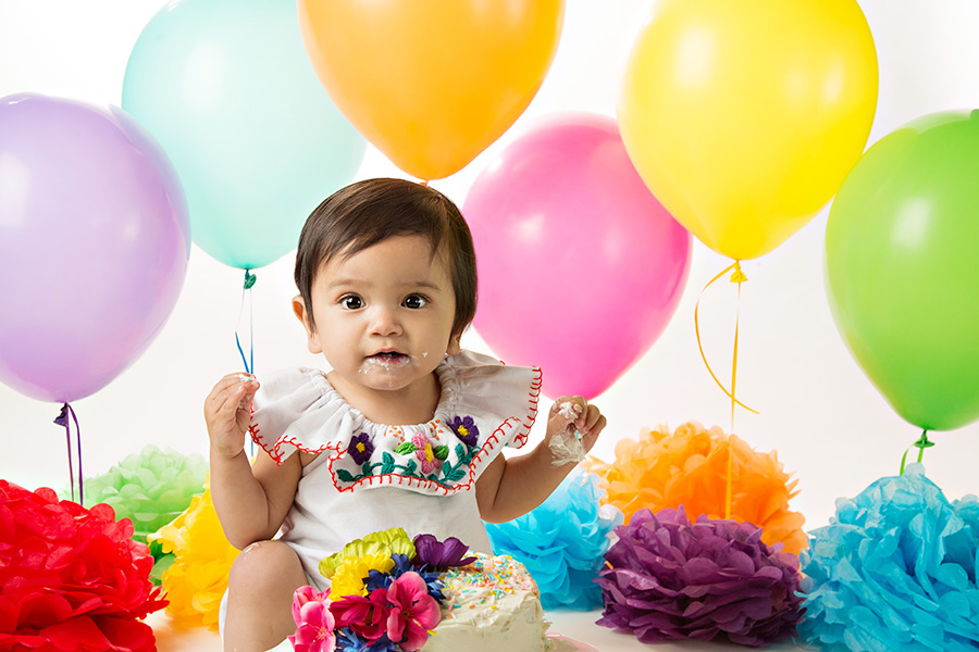 Studio Fiesta Themed Cake Smash for Baby Girl in Roseville 018