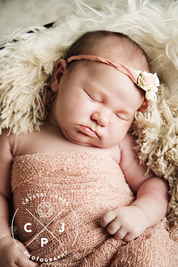 Professional newborn portraits in your home in Roseville California
