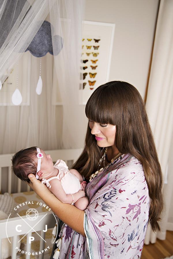 nursery as a backdrop for newborn photos