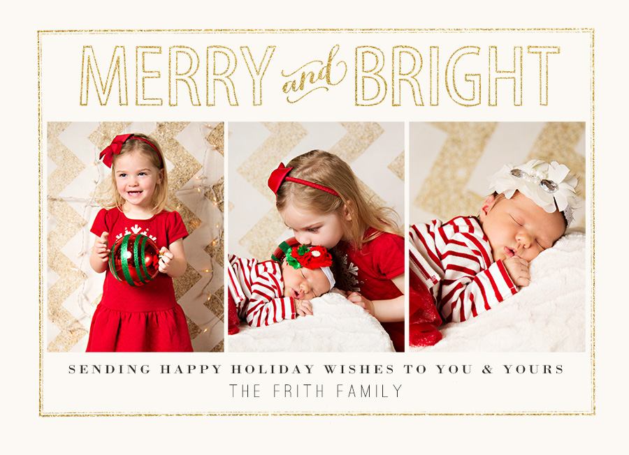 Custom Holiday Cards for Family Portraits