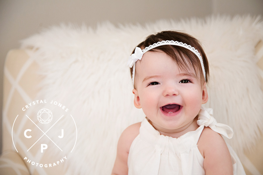 8 month old baby in the studio Roseville CA