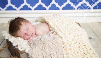 Newborn Boy with Full Head of Hair