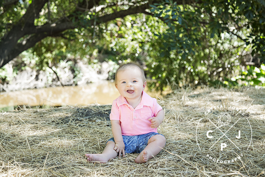 8 Month old boy in Roseville Outdoors
