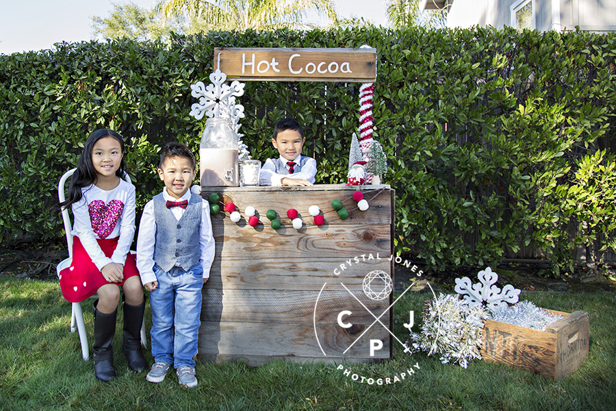 Hot Cocoa Stand Photo Shoot Rocklin CA