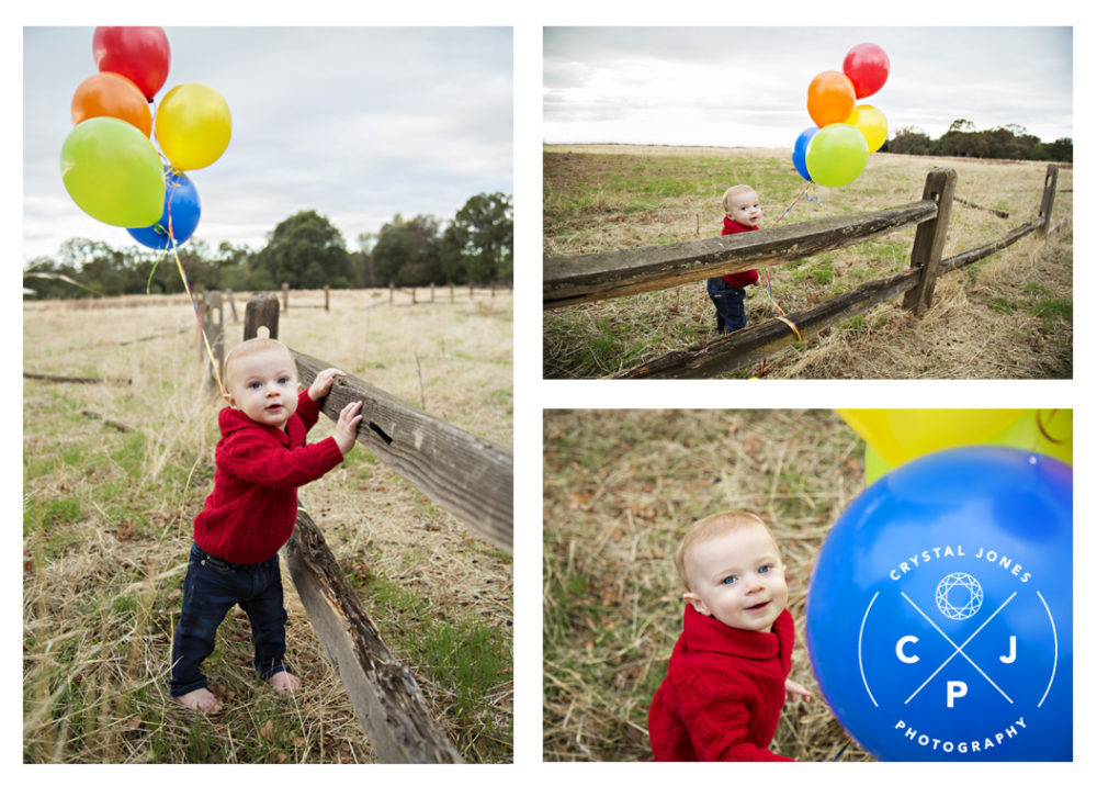 colorful one year milestone portraits for baby boy