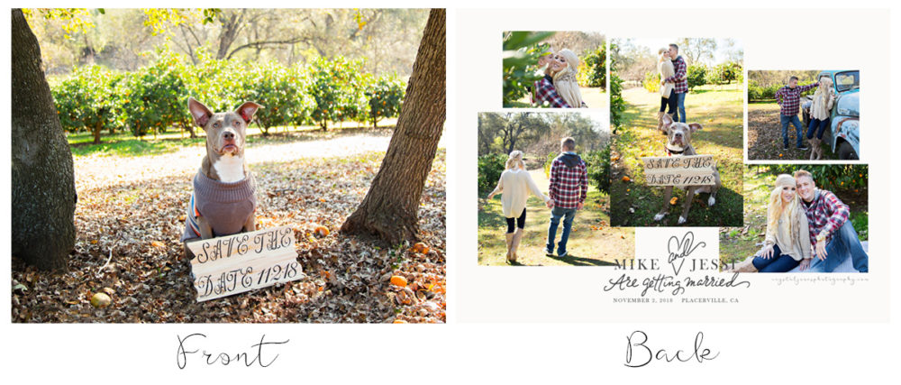 Save the Dates designed from Engagement Session