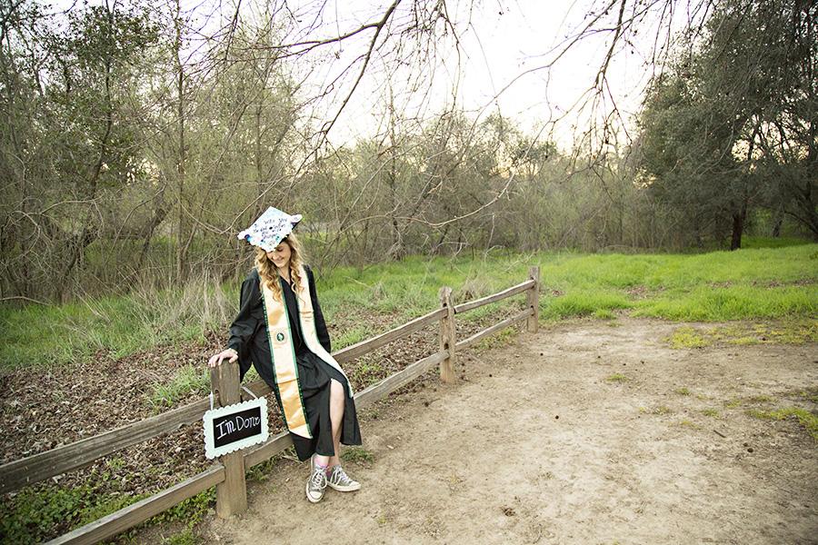 Sunset Grad Photos for Sac State Graduate