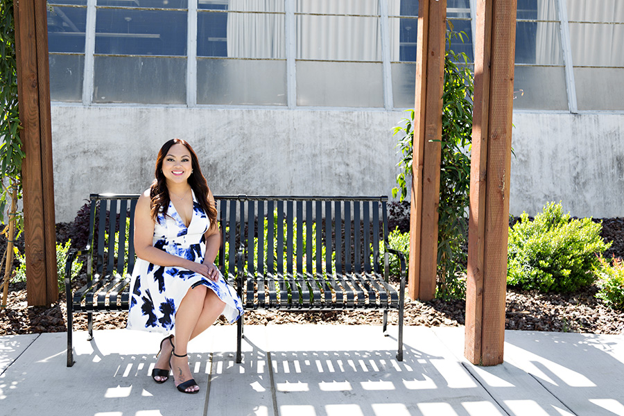 Grad Photos at Sac State Campus
