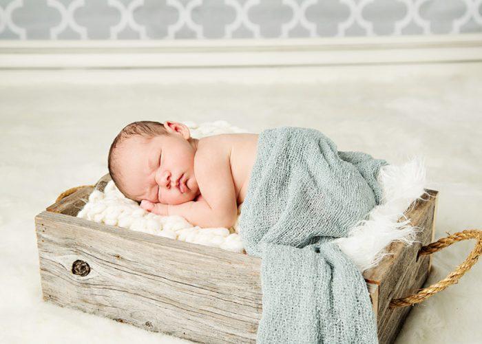 Cozy Newborn Baby Boy Portraits