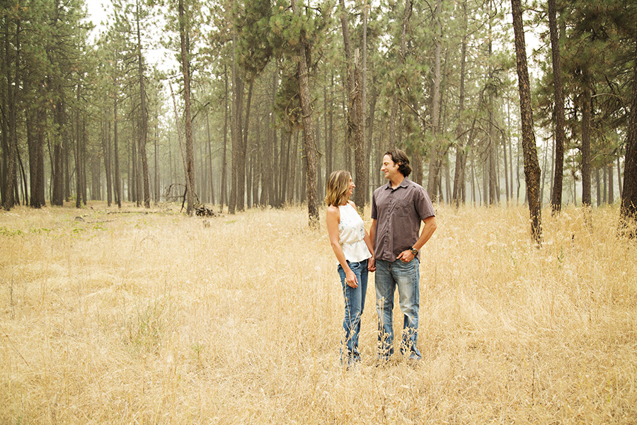 Foggy Forest Engagement Photos