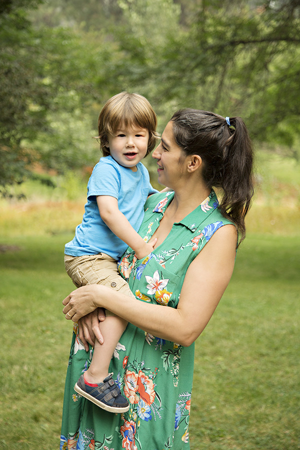 Mother Son Portraits Outdoors