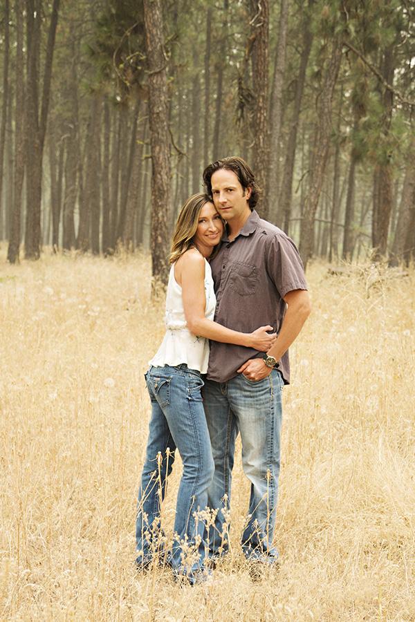 Summertime Foggy Forest Engagement Portraits