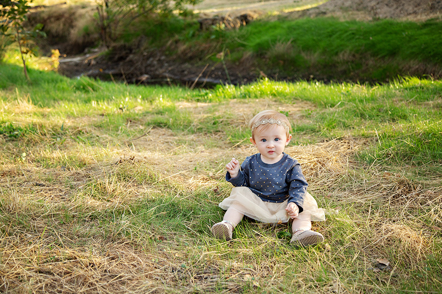 8 month sitter photo shoot in Roseville CA