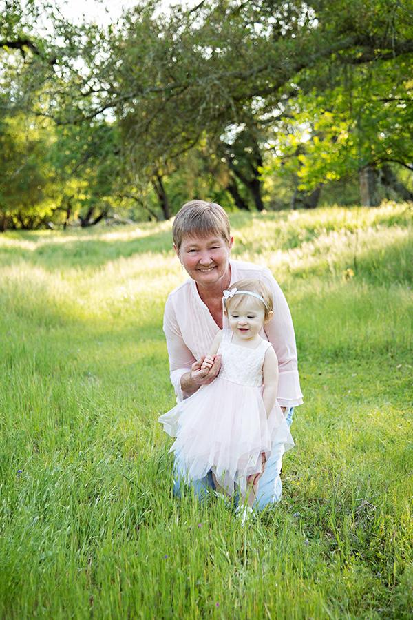 Baby Girl with Grandma in Sacramento CA