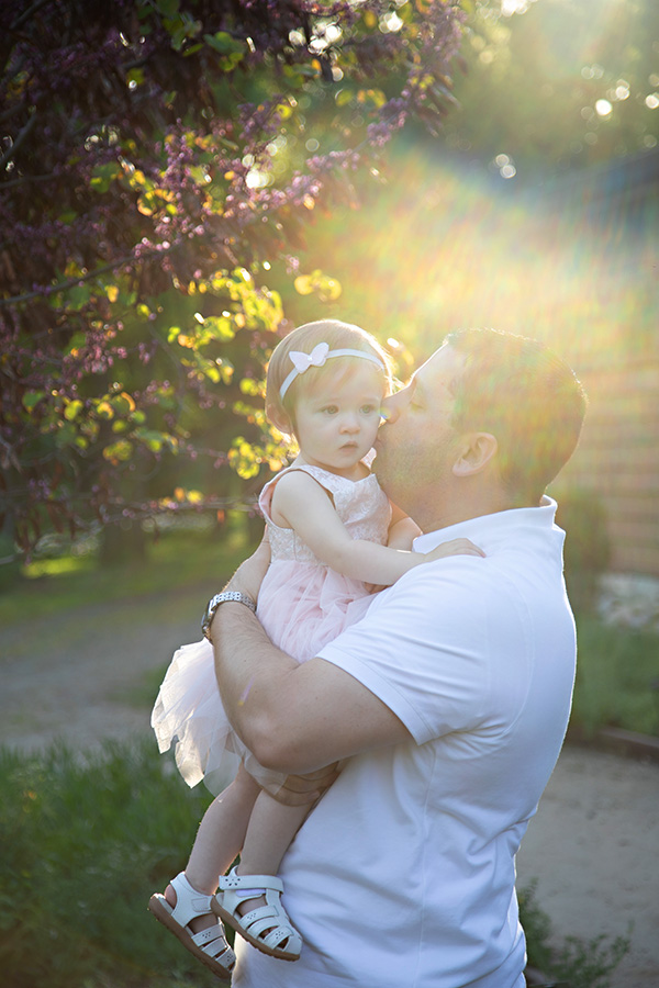 One Year Old Father Daughter Photos in Sacramento