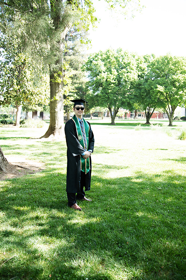 Sacramento State University Graduation Photos on Campus