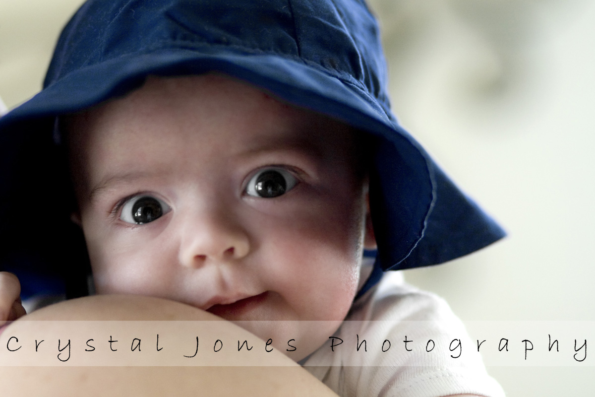3 month in home milestone portraits in roseville california