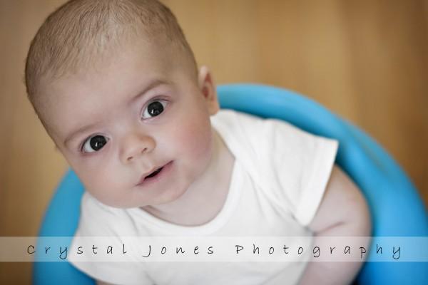 3 month in home milestone portraits in roseville california