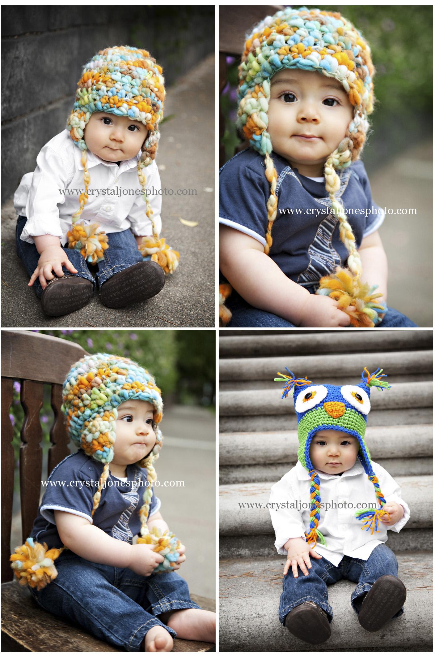 6 month outdoor baby photos in midtown sacramento