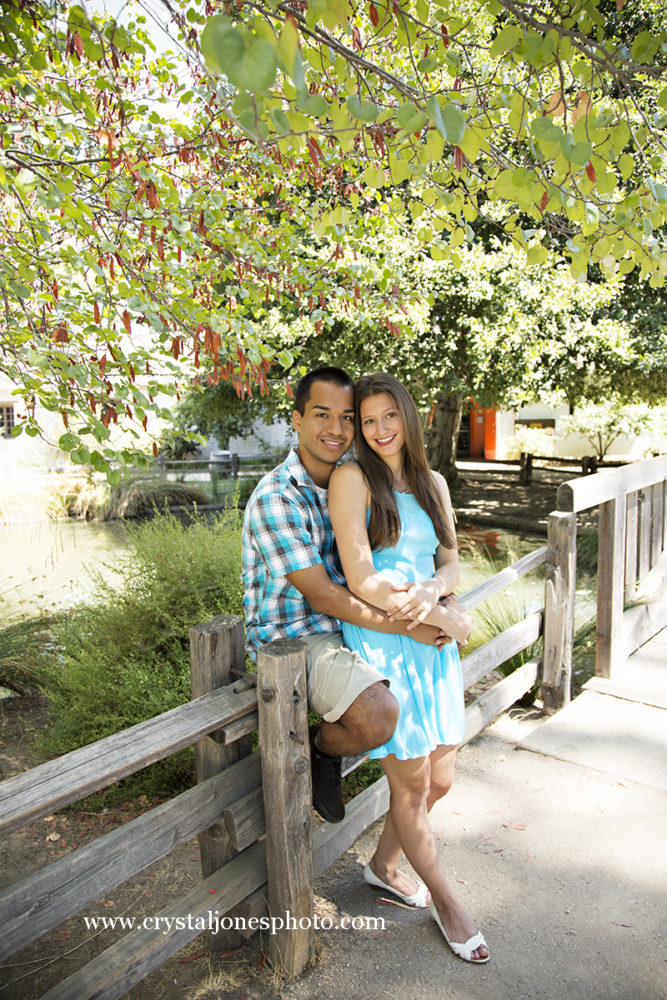 Adorable couple at Sutter's Fort in Sacramento