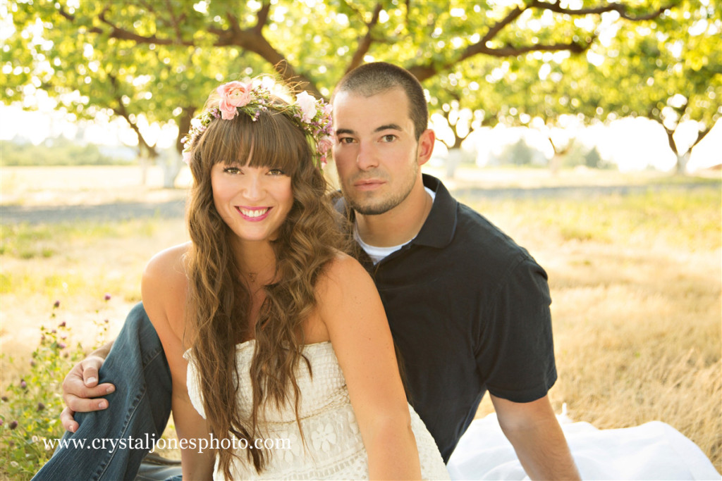 outdoor sunset engagement portraits in roseville california