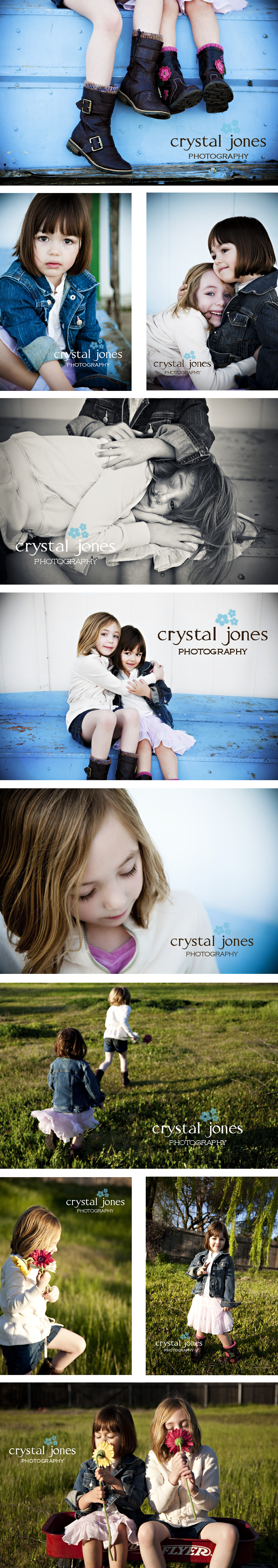 Roseville California children's portraits in a beautiful meadow