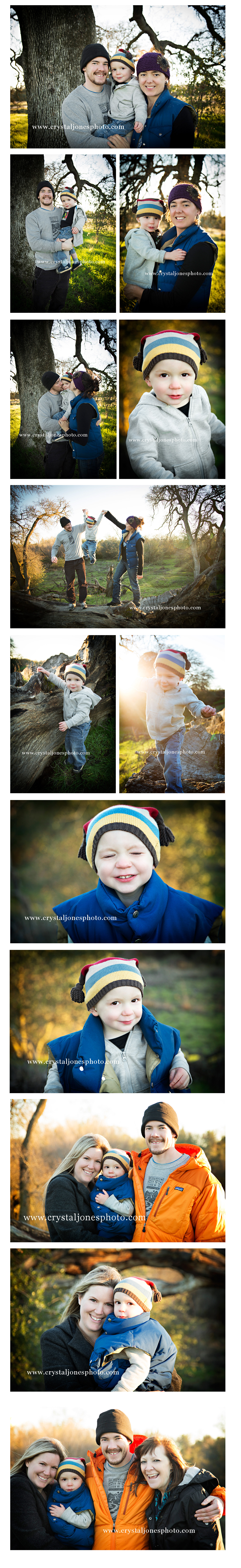 outdoor sunset family portraits at maidu park in roseville california
