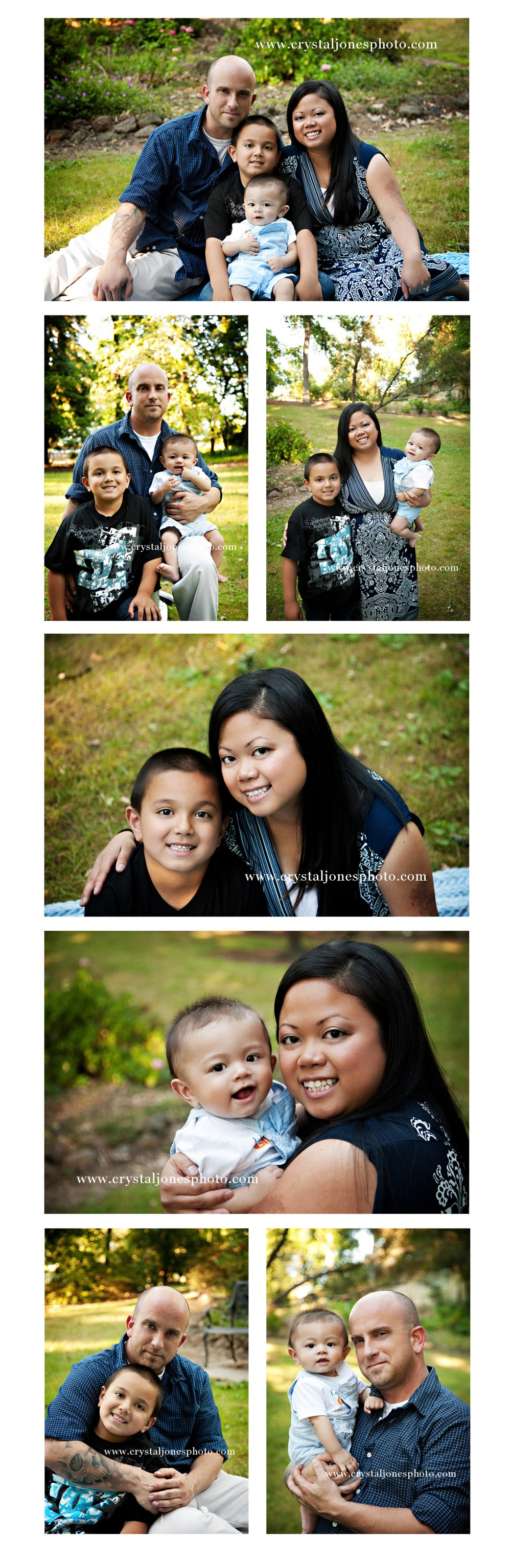family portraits at jensen botanical gardens in sacramento california