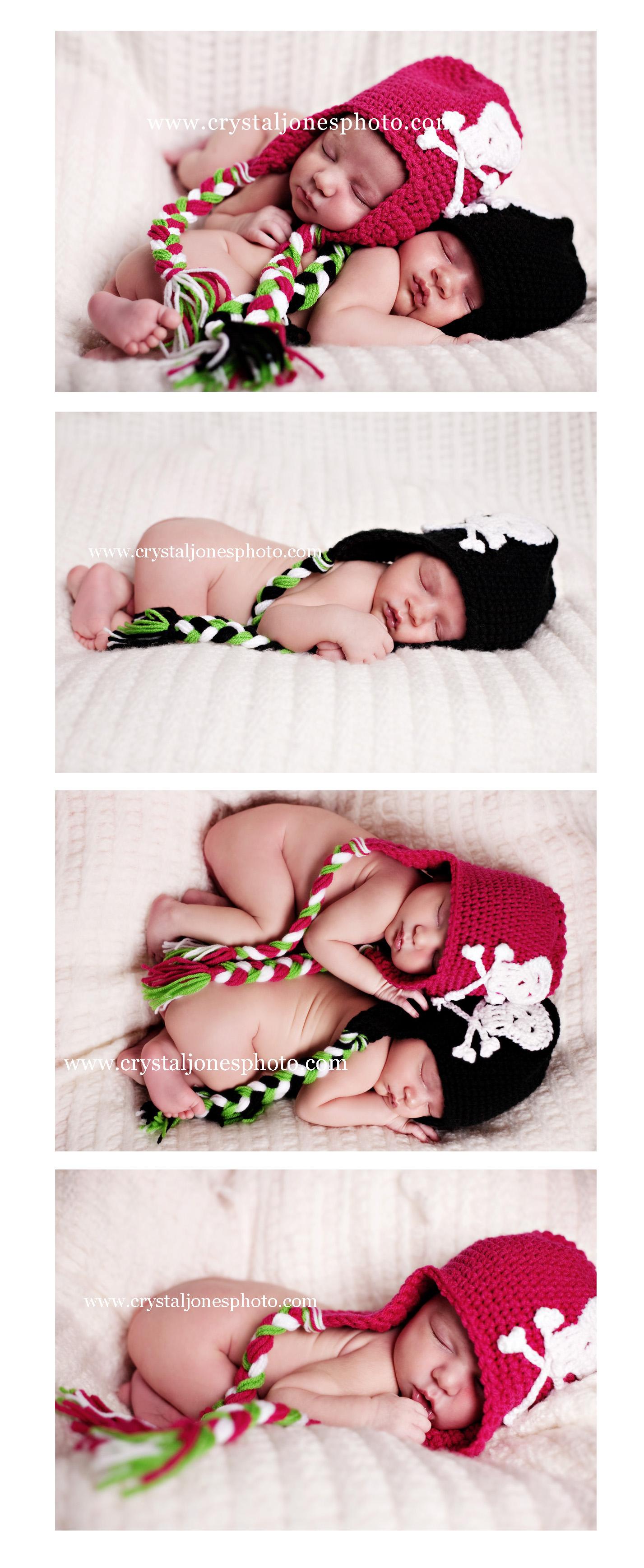 in studio twin newborn photography in roseville california