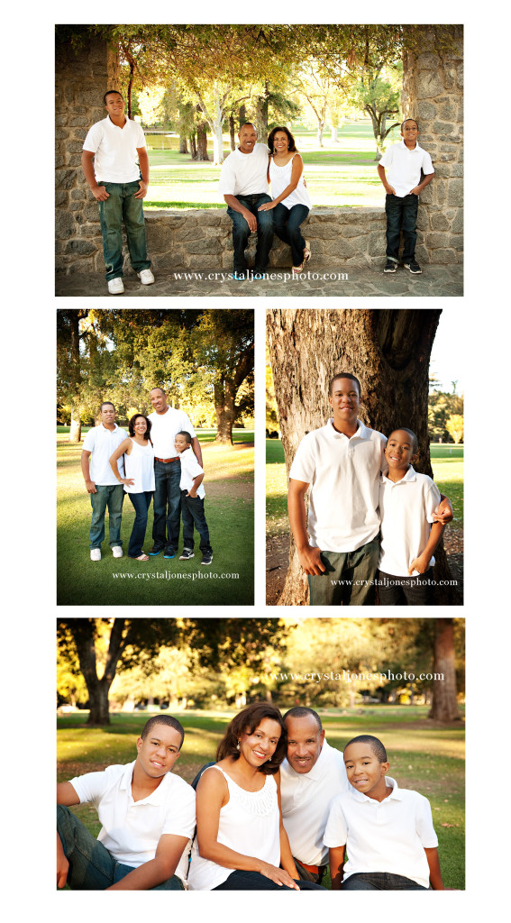 outdoor family portraits at sunset in Land Park