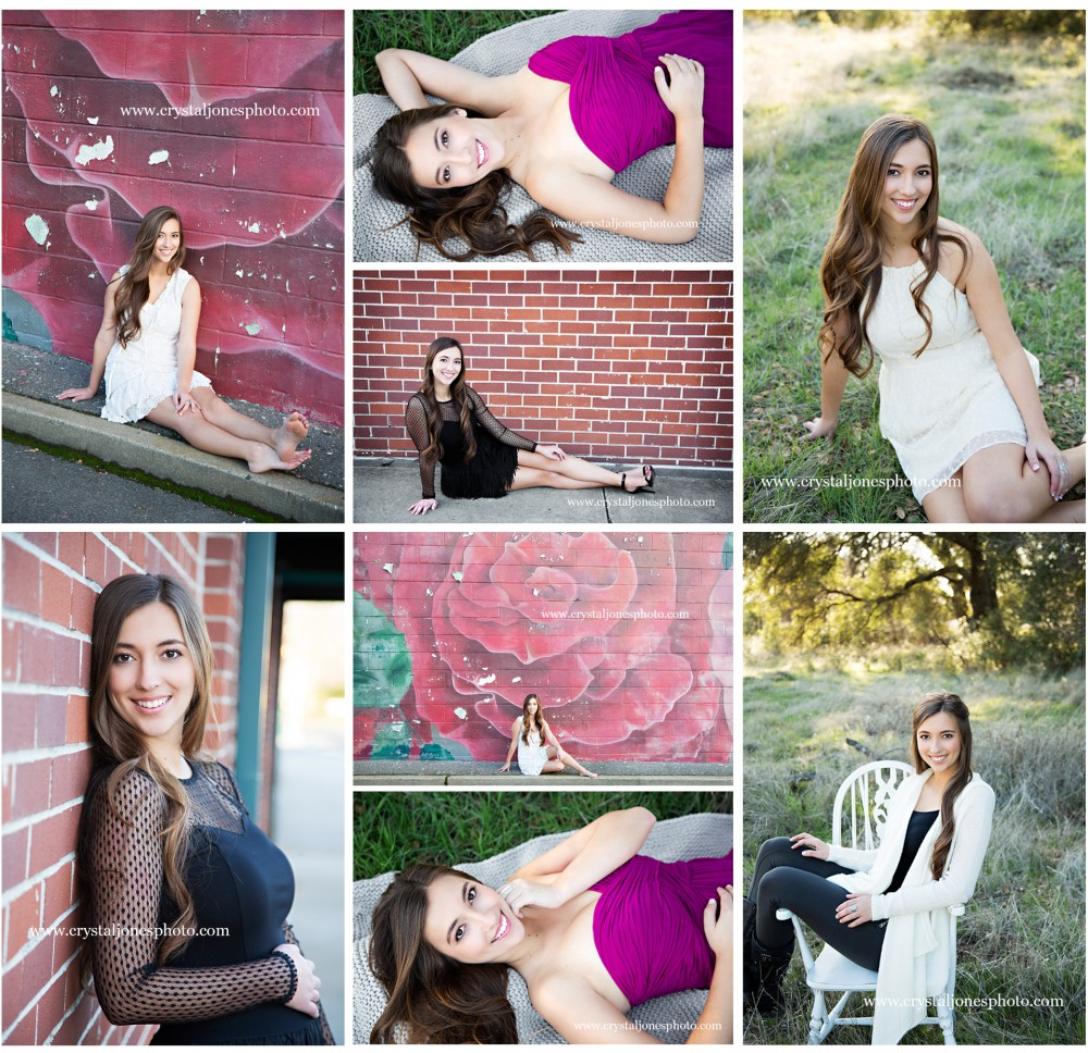 roseville california high school senior portraits outdoors