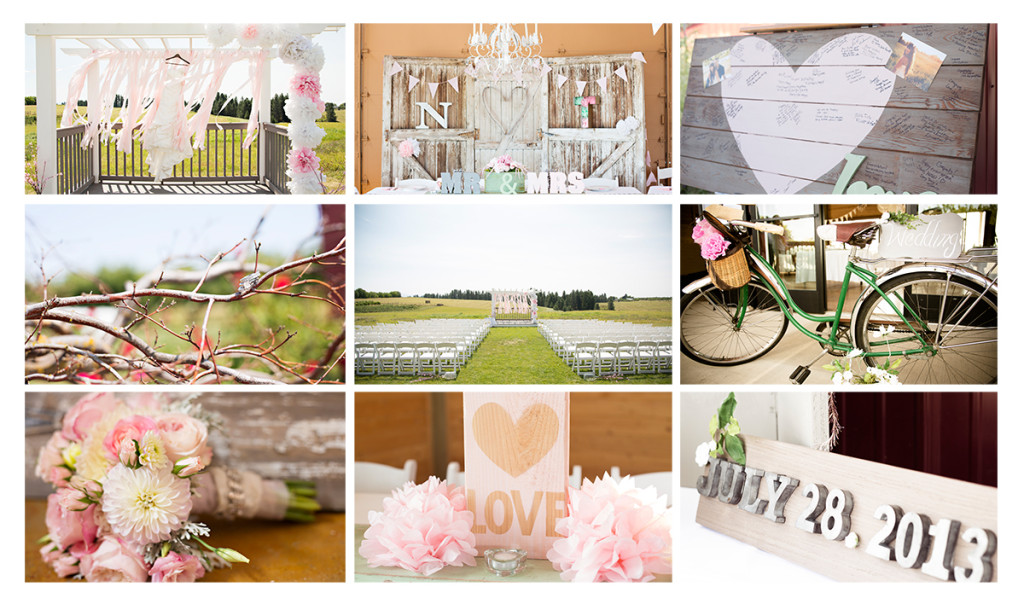 special touches and handmade wedding items