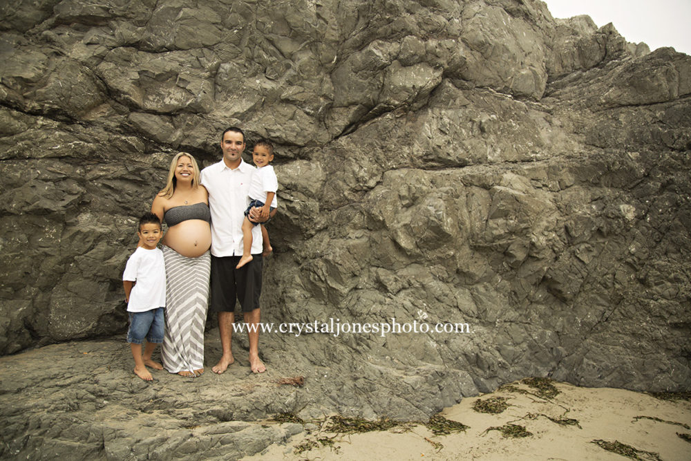 Family Maternity Portraits at Dillon Beach