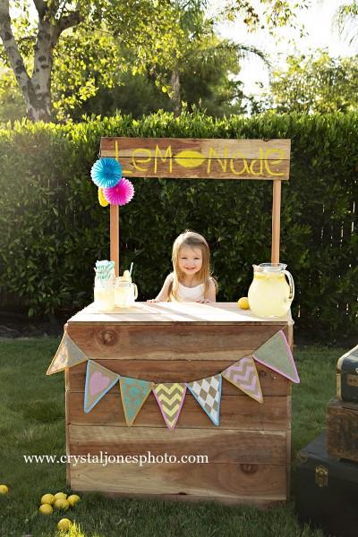Lemonade Stand Mini Sessions in Rocklin California