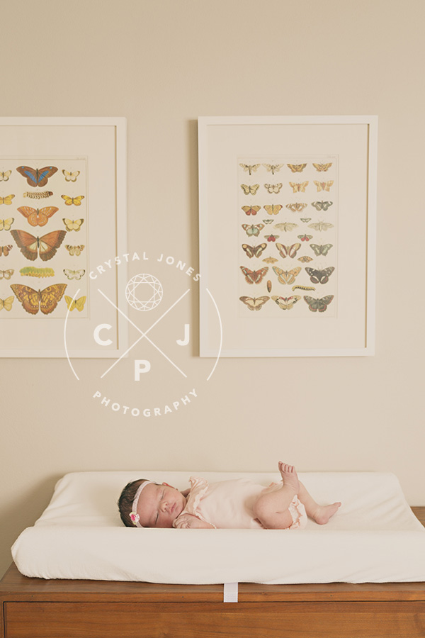 nursery as a backdrop for newborn photos
