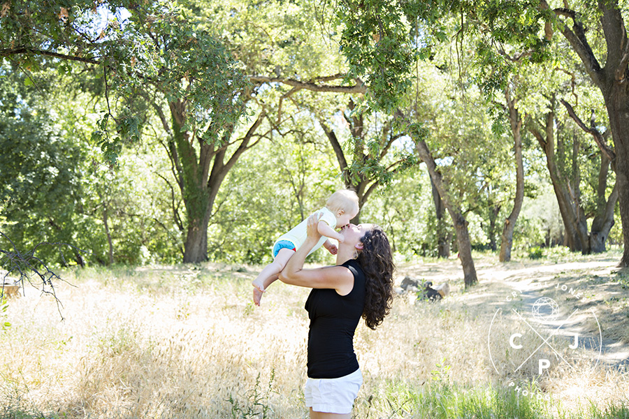 Mother and Son Portraits in Roseville